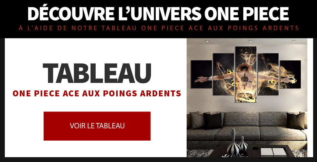 Tableau One Piece Ace aux Poings Ardents