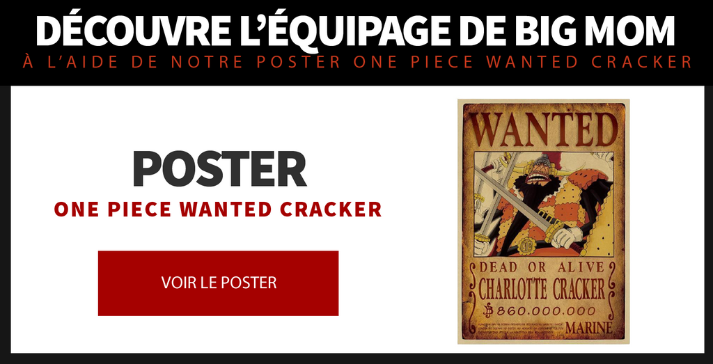 Poster One Piece Wanted Cracker
