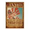 Poster Wanted Ace One Piece