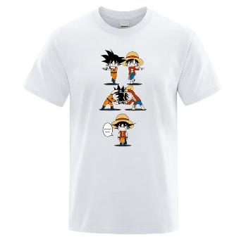 T-Shirt One Piece<br> Fusion Luffy et Goku