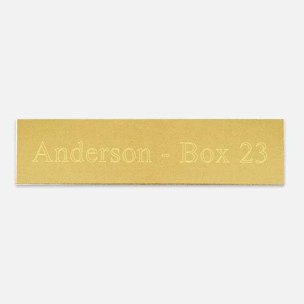 "Brass Plate  2"" X 1/2"" - Things Engraved"
