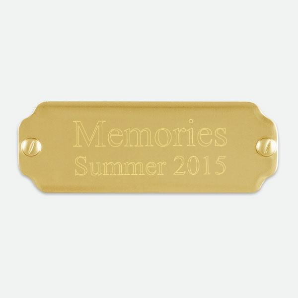 "Brass Plate  2  1/2"" x 7/8"" - Things Engraved"