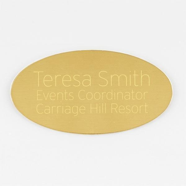 "Oval Brass Plate  2  5/8"" x 1  3/8"" - Things Engraved"