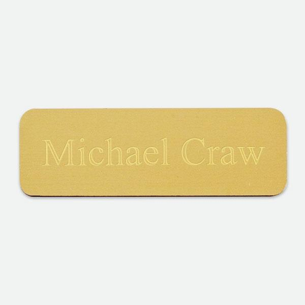 "Brass Plate  3"" x 1"" - Things Engraved"