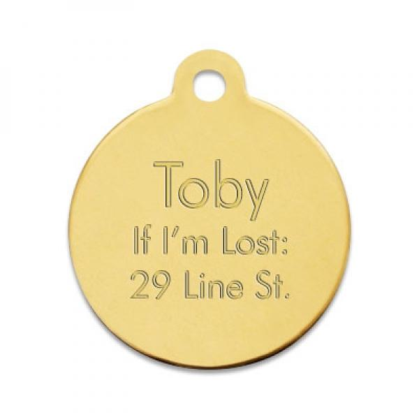 Brass Pet Tag - Things Engraved