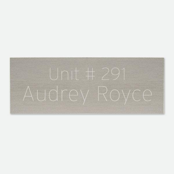 "Brass Pewtertone Plate  4"" x 1 1/2"" - Things Engraved"
