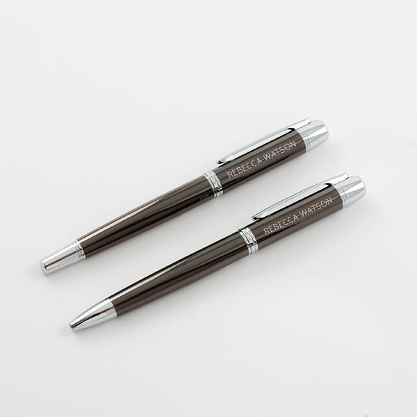 Cadence Gun Metal RB & BP Pen Set - Things Engraved