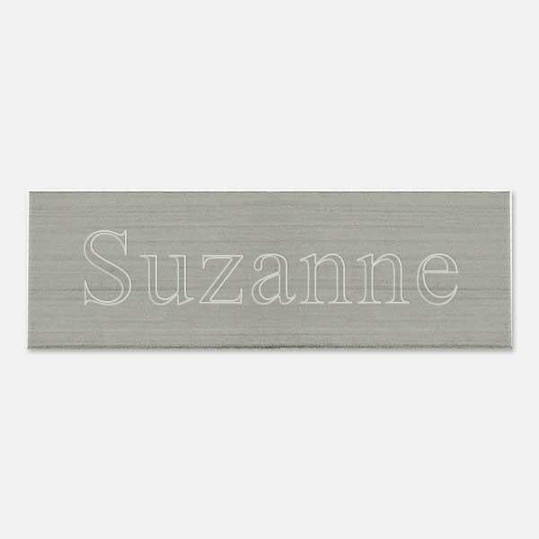 "Brass Pewtertone Plate  1  1/2""x 1/2"" - Things Engraved"