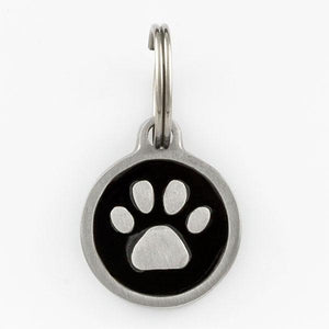 Small Paw Print Pet Tag - Things Engraved