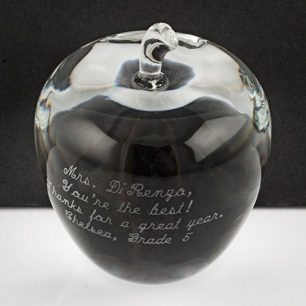 Crystal Apple - Things Engraved