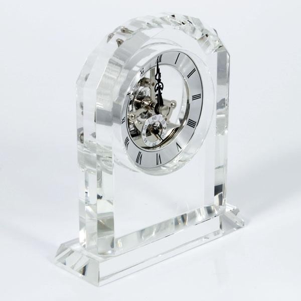 Crystal Skeleton Clock - Things Engraved