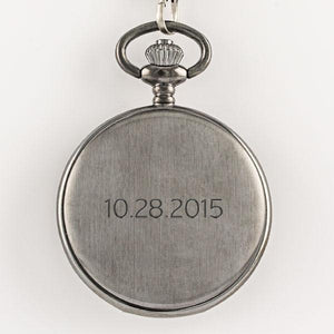 Gunmetal Pocket Watch - Things Engraved