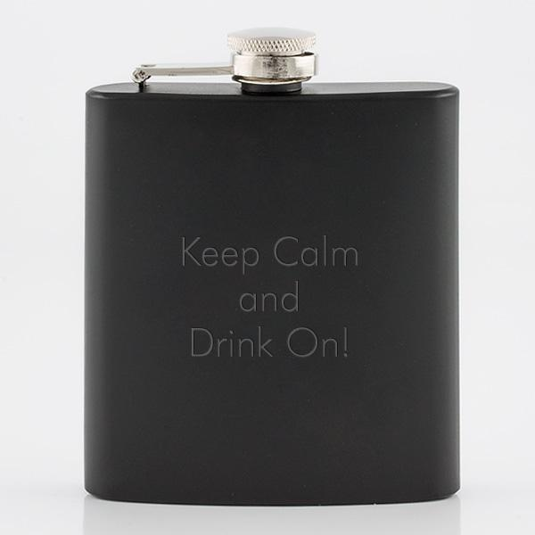 Black Painted SS Flask - Things Engraved