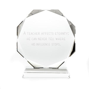 Optic Crystal Octagon Award - Things Engraved