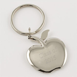 Silver Apple Keychain - Things Engraved