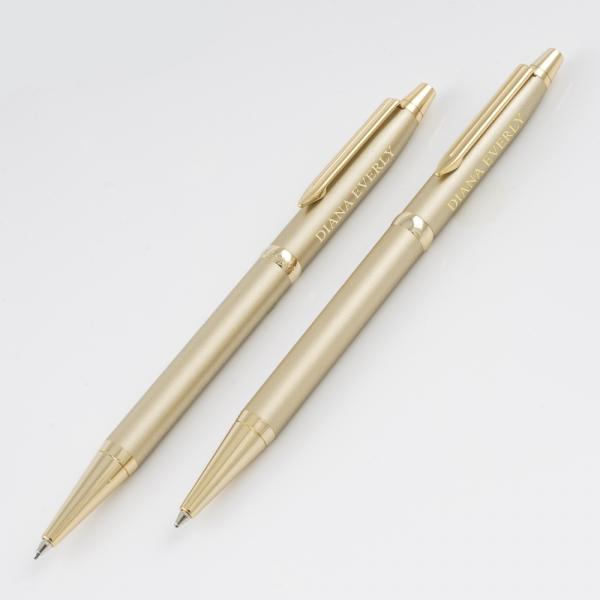 Cadence Champagne Pen/Pencil Set - Things Engraved