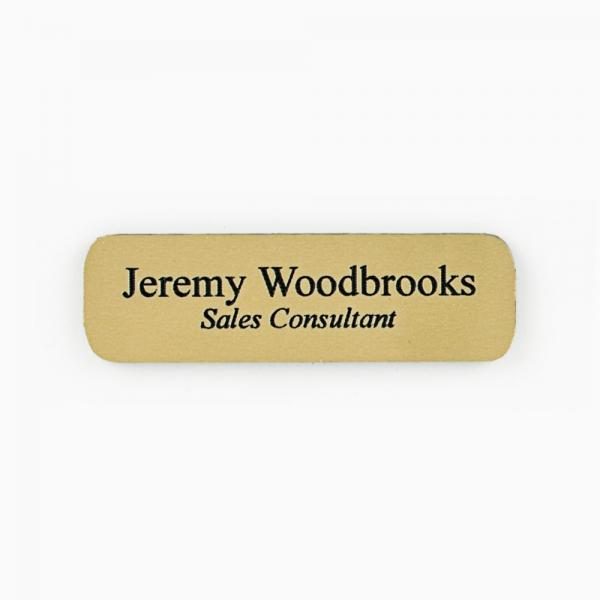 Gold on Black Plastic Name Tag Plate