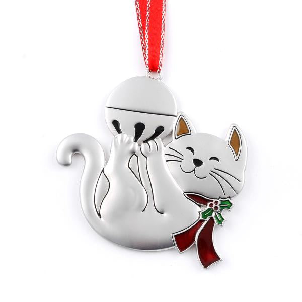 Cat with Bell Ornament - Things Engraved