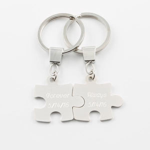 Puzzle Piece Key Ring Set