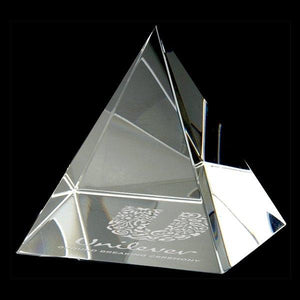 "Pyramid Paperweight  2"" - Small - Things Engraved"