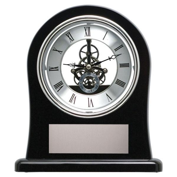 "Black Skeleton Clock Award  8 3/8"" x 9 5/8"" - Things Engraved"