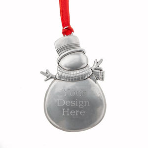 "Glitter ""Merry Christmas"" Snowman Ornament"