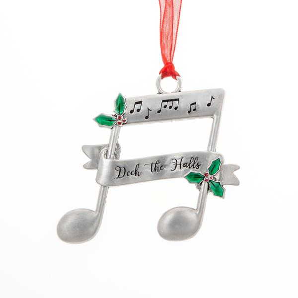 "Music Note ""Deck the Halls"" Ornament"