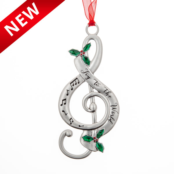 "Treble Clef ""Joy to the World"" Ornament"