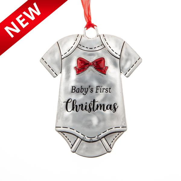 Baby's First Christmas Onesie Ornament