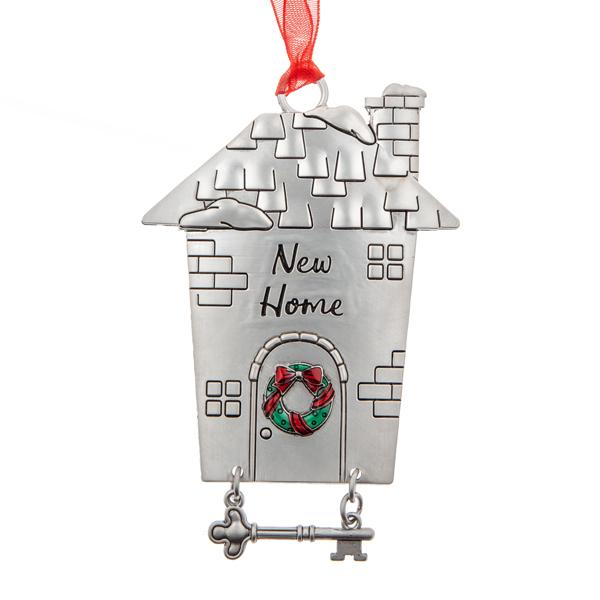 New Home with Key Ornament