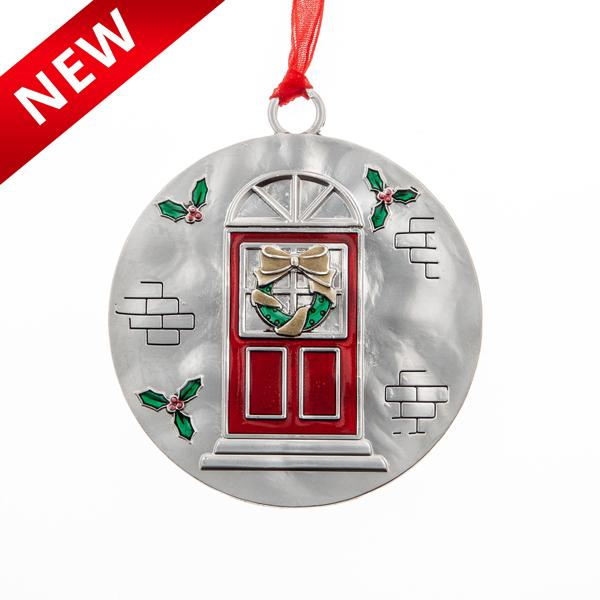Front Door With Wreath Ornament