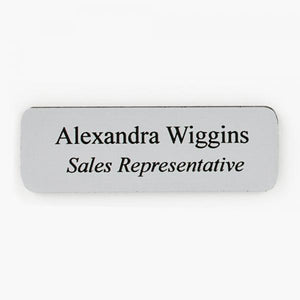 Silver/Black Plastic Name Tag Plate