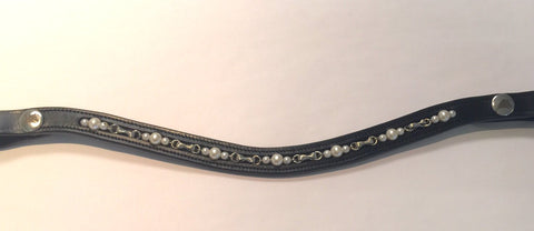 English Browband Curvy w/ Pearls