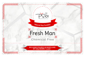 Fresh Man Scented Natural Soy Candle