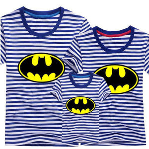 T-shirt BATMAN - Bleu rayé - T-shirt -  SameClothes