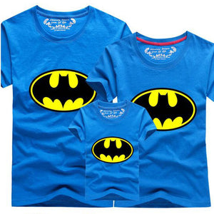 T-shirt Batman Famille Bleu - T-shirt -  SameClothes