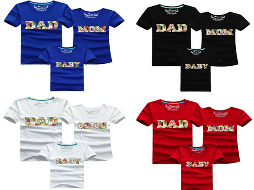 Tshirt - Flower Dad/Mom/Baby Plusieurs Cloueurs - T-shirt -  SameClothes