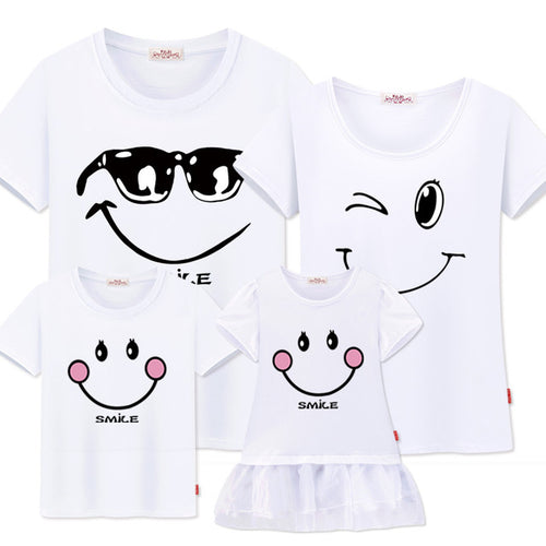 T-shirt Smile Cool Famille Blanc - T-shirt -  SameClothes