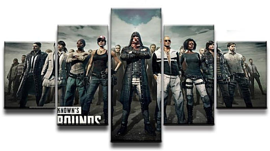 PUBG Canvas 5 Pieces Modern HD Print