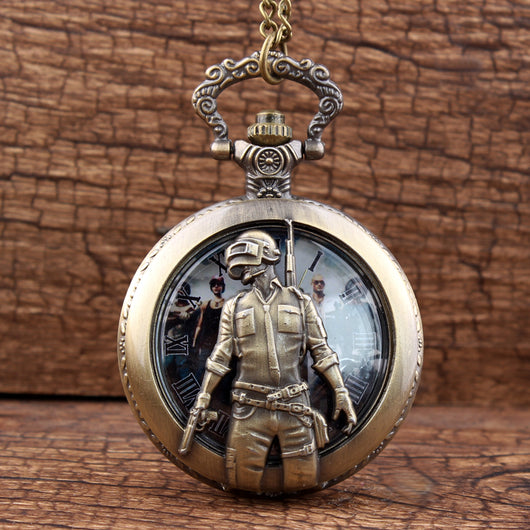 PUBG Vintage Steampunk Pocket Watch