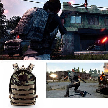 PUBG Camouflaged  Level 3 Multi-functional  Backpack