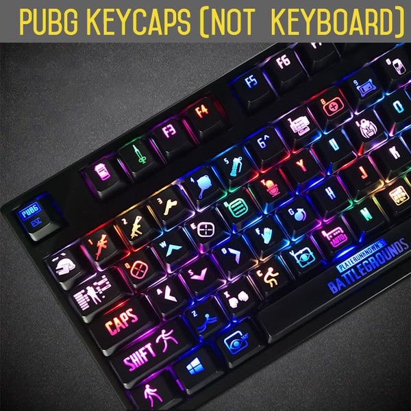 PUBG Backlight Mechanical Keyboard Key cap for Cherry mx