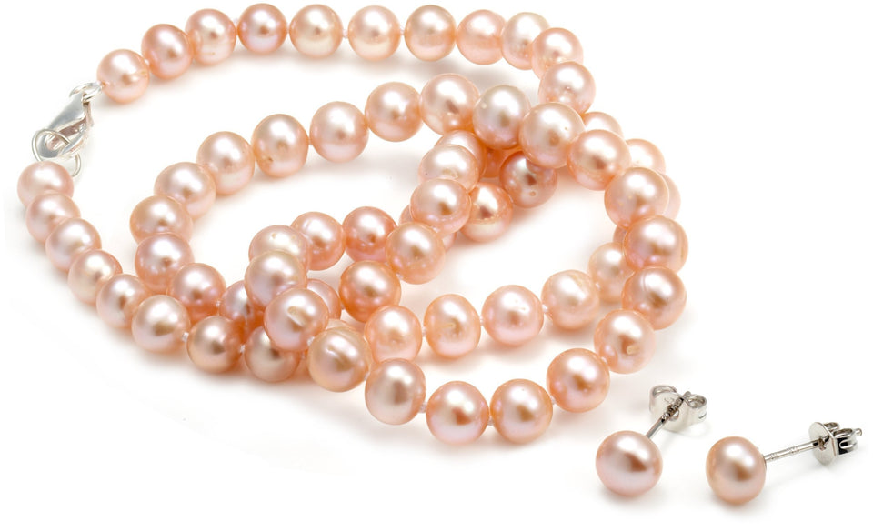 Orchira's Eternal Pink Pearl Set