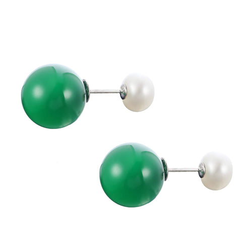Almighty Glory Vert Pearl Earrings - Orchira Pearl Jewellery