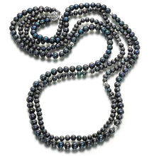 Load image into Gallery viewer, Amazing Grace Silver Pearl Necklace - Orchira Pearl Jewellery