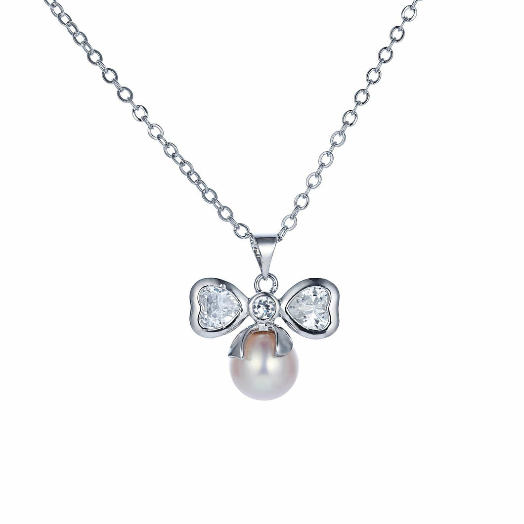Angel's Bow Pearl Necklace - Orchira Pearl Jewellery