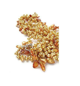Blazing Sunflower Pearl Necklace