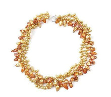 Load image into Gallery viewer, Blazing Sunflower Pearl Necklace