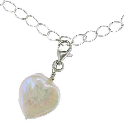 Charm Amuse Heart Shaped Pearl Charm - Orchira Pearl Jewellery