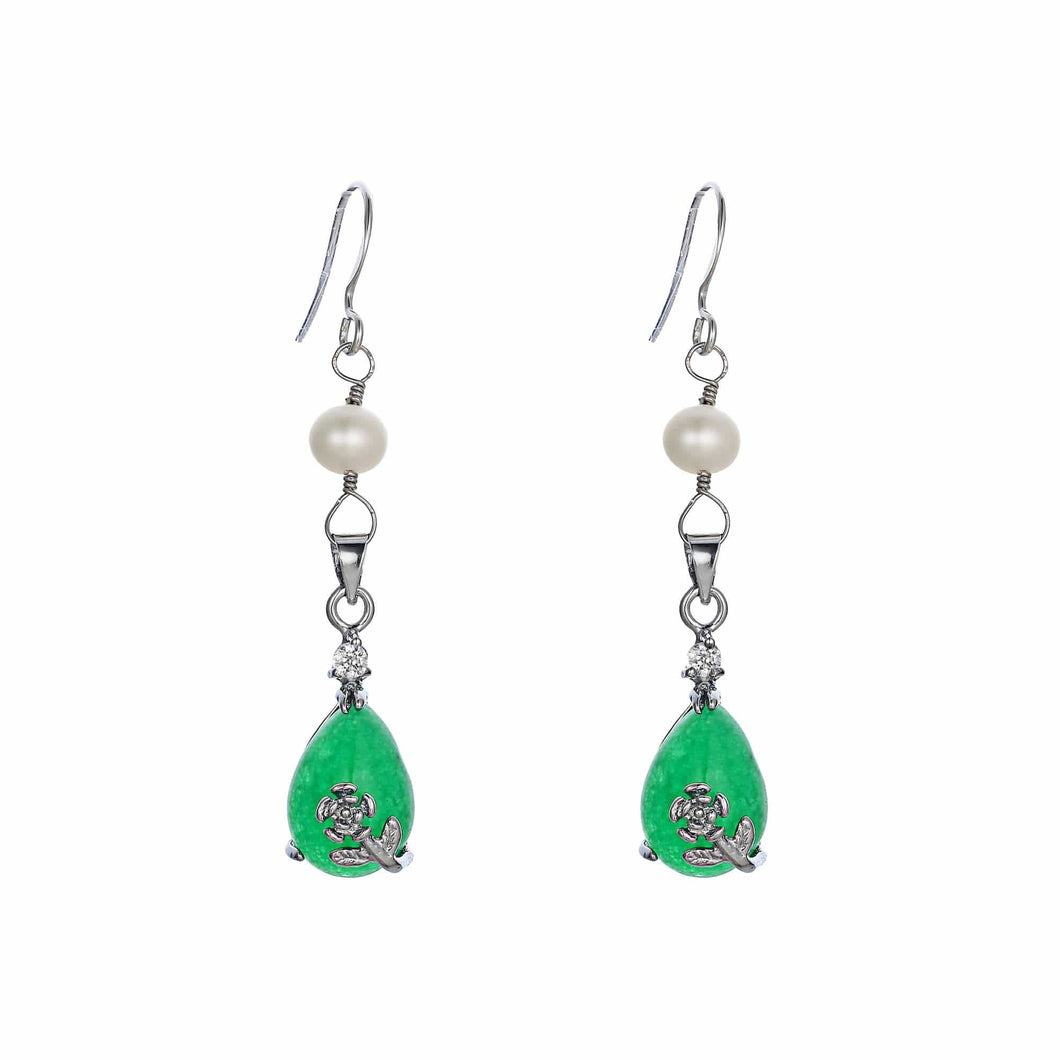 Jade Obsession Pearl Earrings - Orchira Pearl Jewellery
